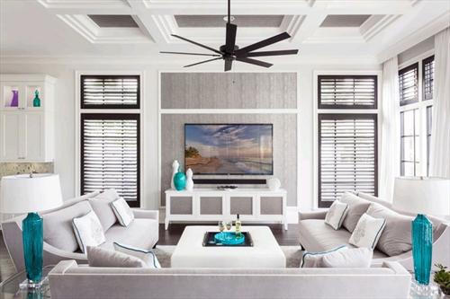 Xu hướng kết hợp bàn ghế sofa và kệ tivi phòng khách đơn giản