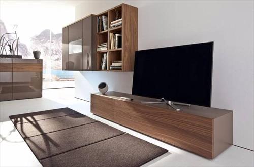 Chọn chất liệu gỗ nào làm kệ tủ tivi hiện đại cho phòng khách