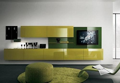Chọn màu sắc kệ tủ tivi phòng khách hợp phong thủy