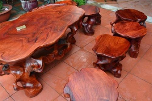 Bàn ghế gỗ Hương Đỏ đẹp cho không gian nội thất hiện đại