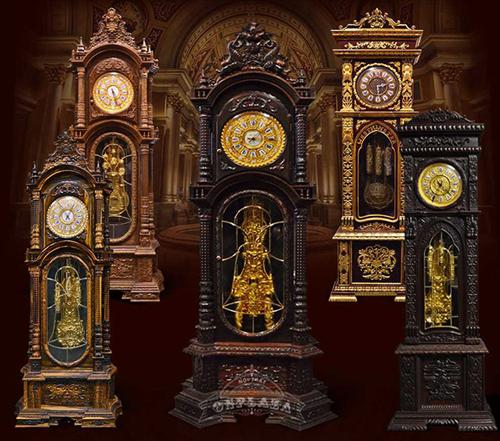 9 Mẫu đồng hồ cây nhập khẩu Đức bằng gỗ Mun hoa 2019